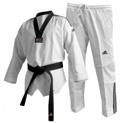 "DOBOK ADI-FIGHTER II COU NOIR 3 RAYURES ""TRADITIONNEL"" ADITF02KO"