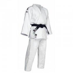 "Judogi Adidas ""Champion II New"" Slimfit BLANC ""IJF 2018"" (bandes noires)"