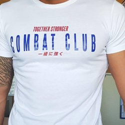 """CAMISETA """"COMBAT CLUB"""" BLANCO"""